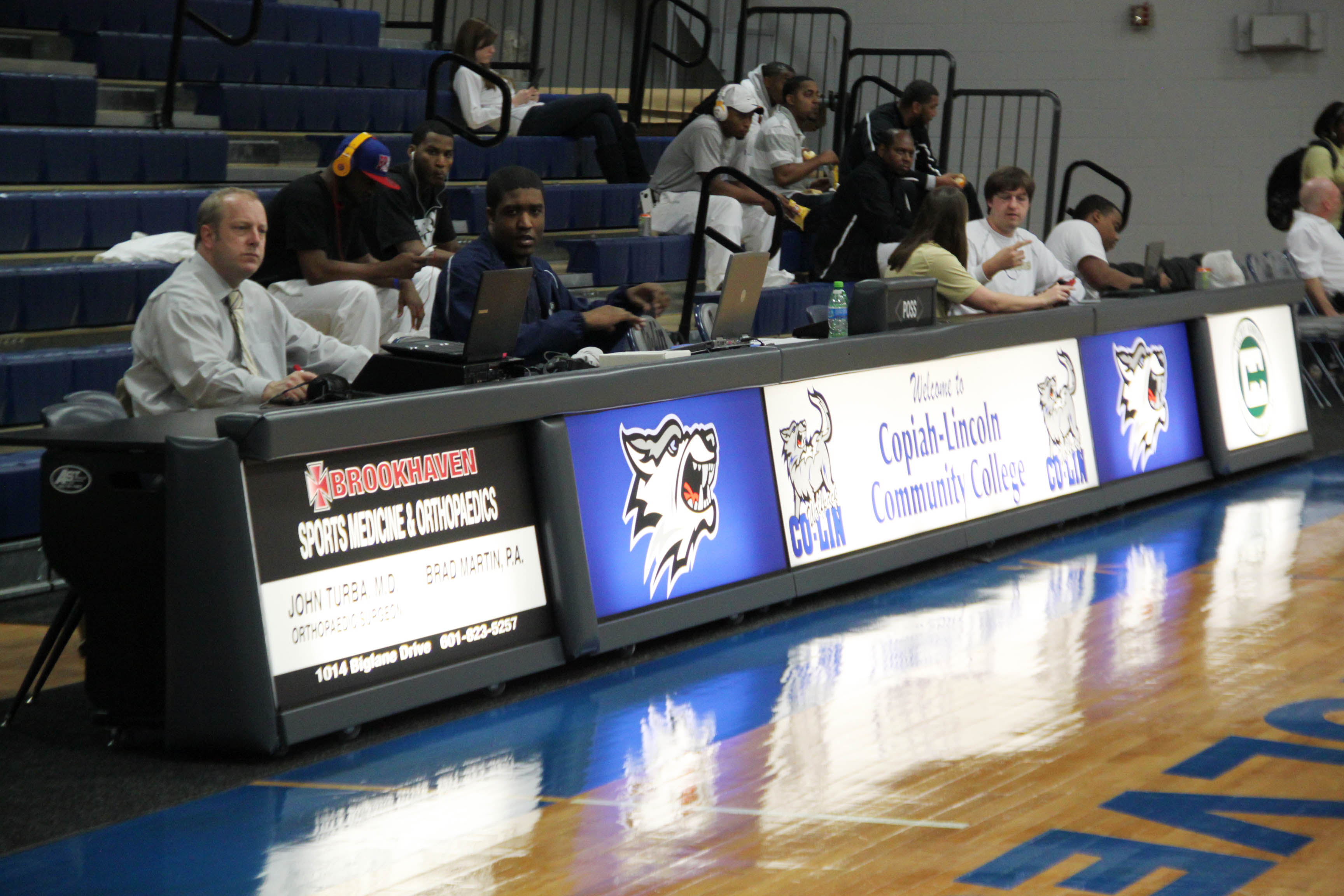 Copiah Lincoln Basketball Scorer's Table