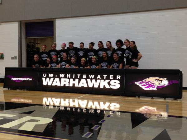 UW Whitewater volleyball scoring tables